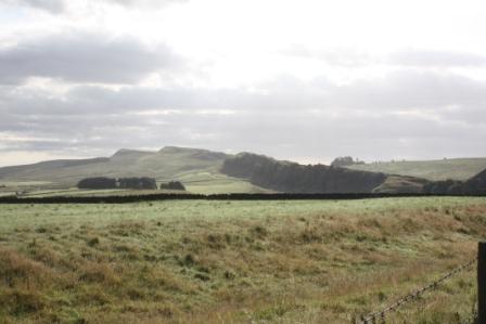 Hadrian's Wall:  Sun rising over Hadrian's Wall