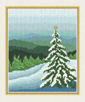 Christmas Card Cross Stitch Pattern Tree