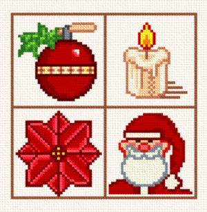 Small Christmas Designs 7 Cross Stitch Pattern Motifs