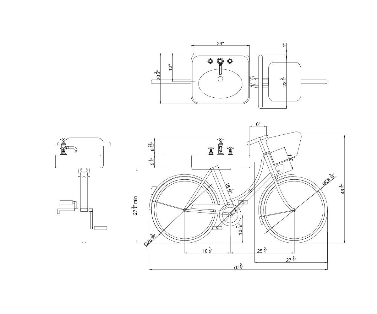 Arcade Bicycle Basin In Basins