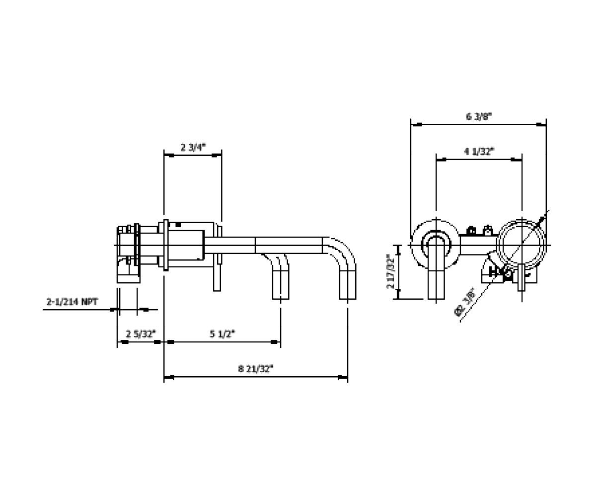 Mpro Single Lever Wall Mount Lavatory Faucet Trim In Mpro