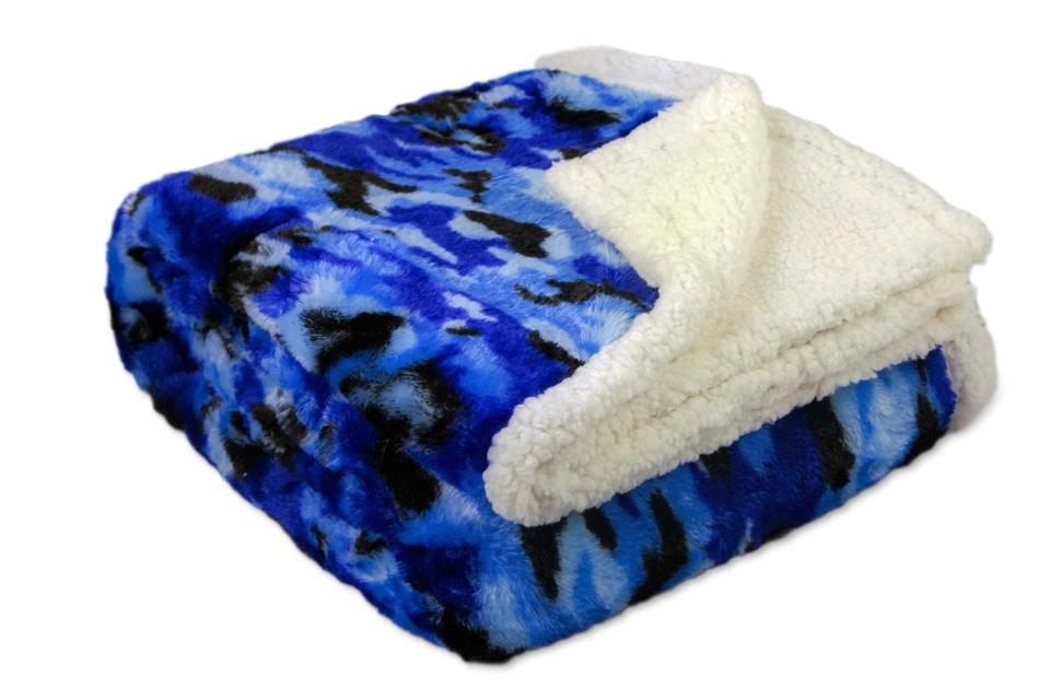 Camouflage Micro Sherpa Luxurious Throw Faux Fur Mink 2