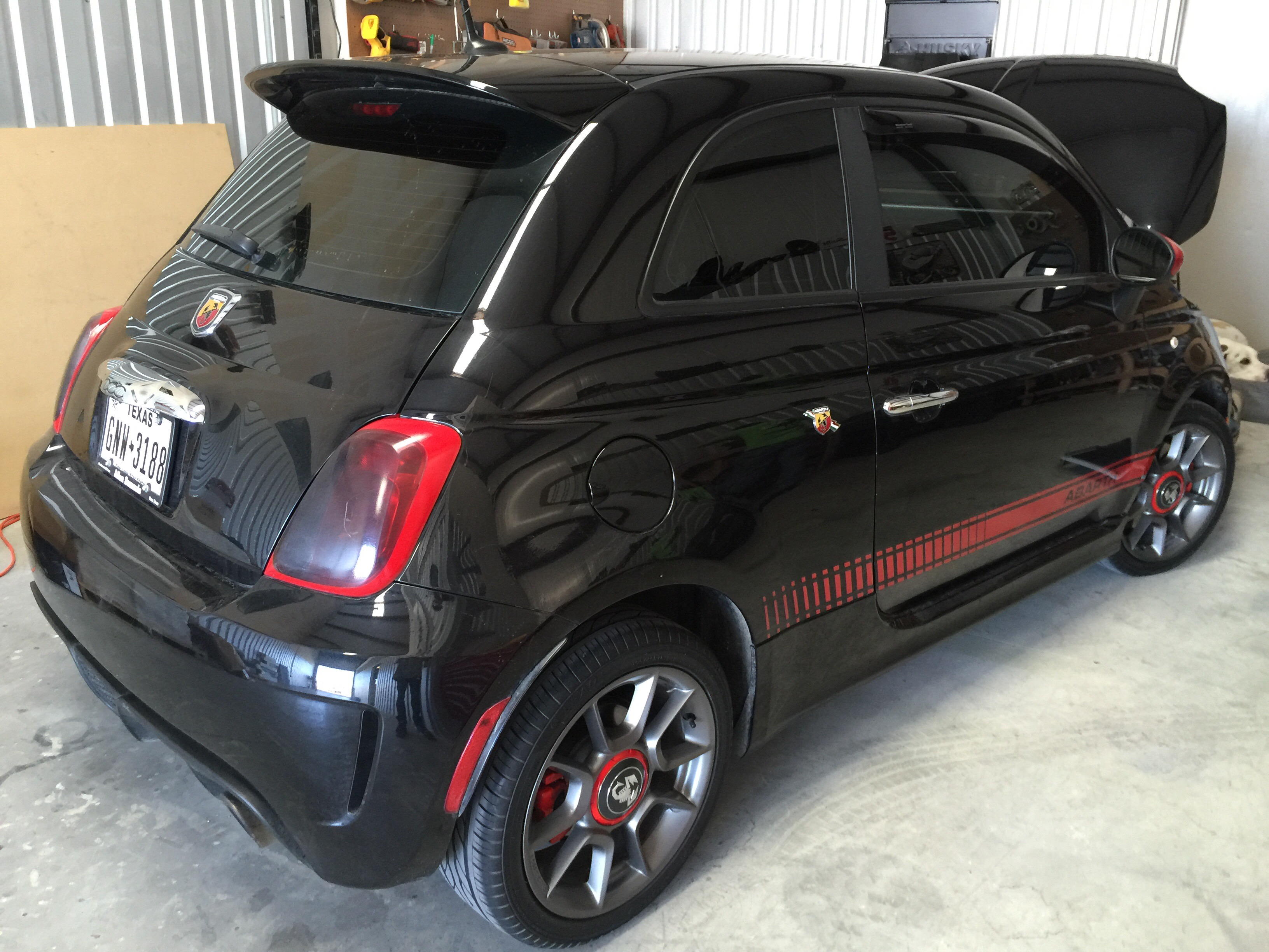 fiat 500 abarth custom headlights crow concepts. Black Bedroom Furniture Sets. Home Design Ideas