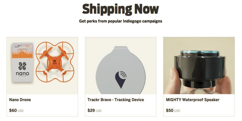Indiegogo shippingnow