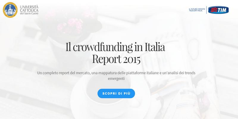 Crowdfunding in Italia 2015