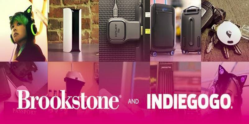 Indiegogo e Brookstone crowdfunding retail