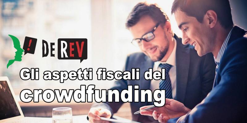 Aspetti fiscali donation crowdfunding DeRev