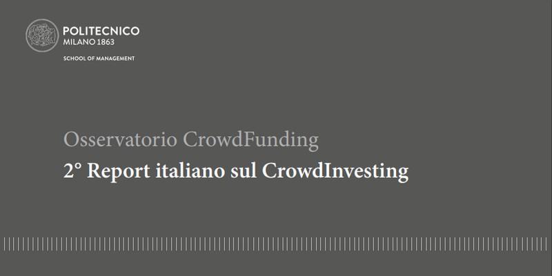 Report Crowd Investing politecnico milano 2017