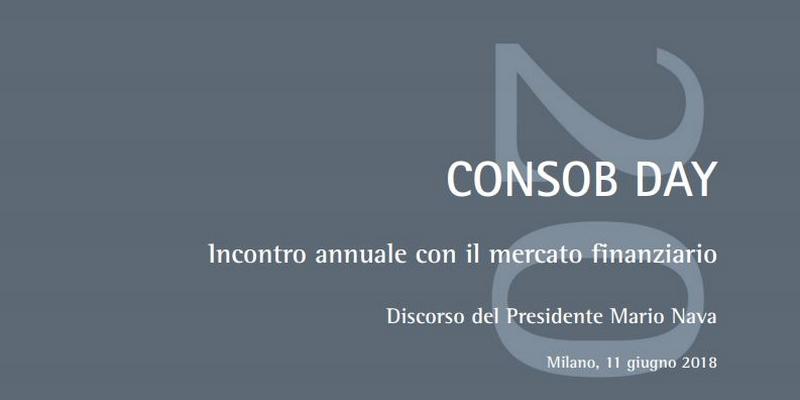 Consob day discorso presidente Nava