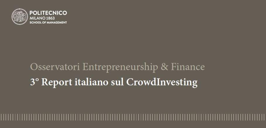 3 report italiano sul crowdinvesting Politecnico Milano