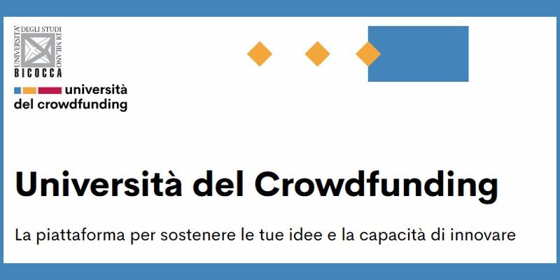 Anche l'università Bicocca di Milano punta sul crowdfunding e lancia una call per co-finanziare progetti