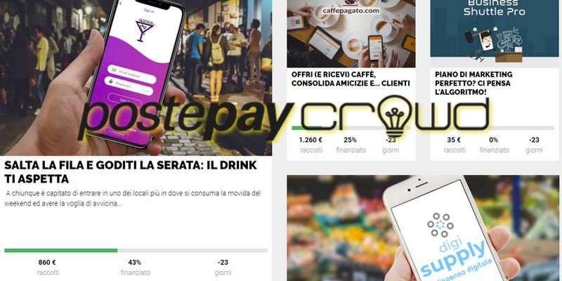 PostePay Crowd cinque nuove campagne reward crowdfunding