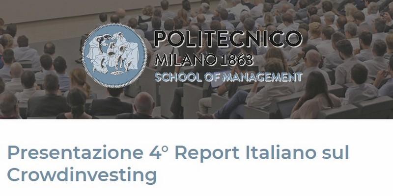 Presentazione 4 report crowdinvesting politecnico di Milano