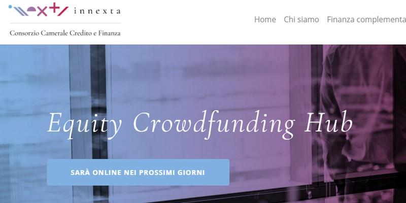 """Innexta lancia Equity Hub, il portale """"vetrina"""" dell'equity crowdfunding, in collaborazione con la CCIAA"""