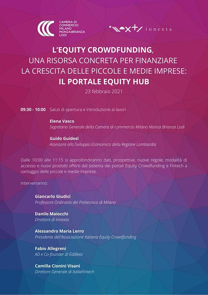 Locandina convegno Inneta equity crowdfunding