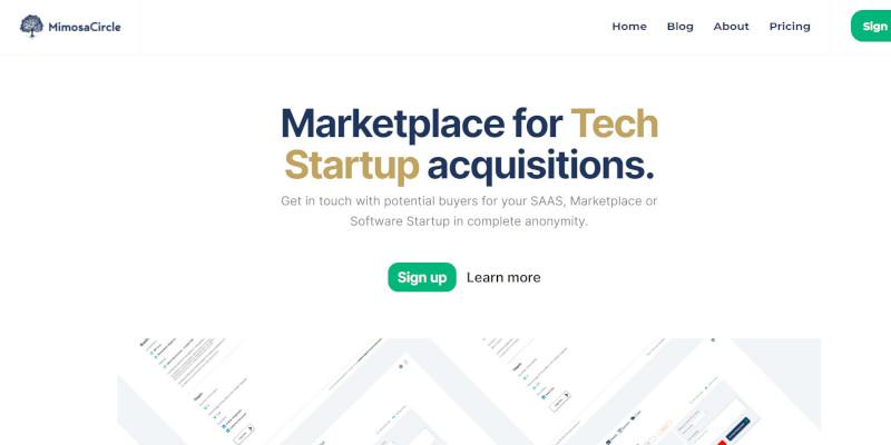 Mimosa Circle marketplace per acquisire startup teconologiche