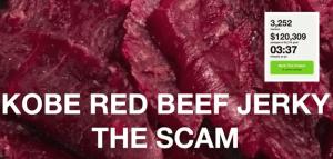 kobe red beef jerky scam kickstarted