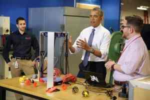 Barack Obama at Maker Faire