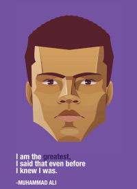 Muhammad Ali Wise Words Card