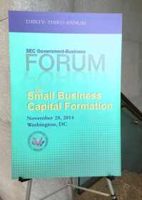 SEC Small Business Capital Formation Forum 2014