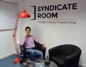 Goncalo at SyndicateRoom Cambs office