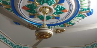 Gypsum TV Cabinet or ceiling Rose very quality full interior design