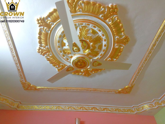 Gypsum ceiling Rose very quality full interior design