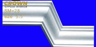 Gypsum cornis strip and decoration design very quality full interior design