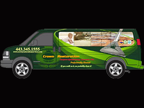 Carpet cleaning van for Crown Restoration Services in Bel Air, MD