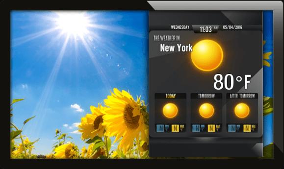 digital signage weather, weather app