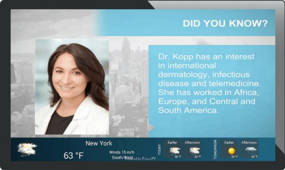 digital signage healthcare