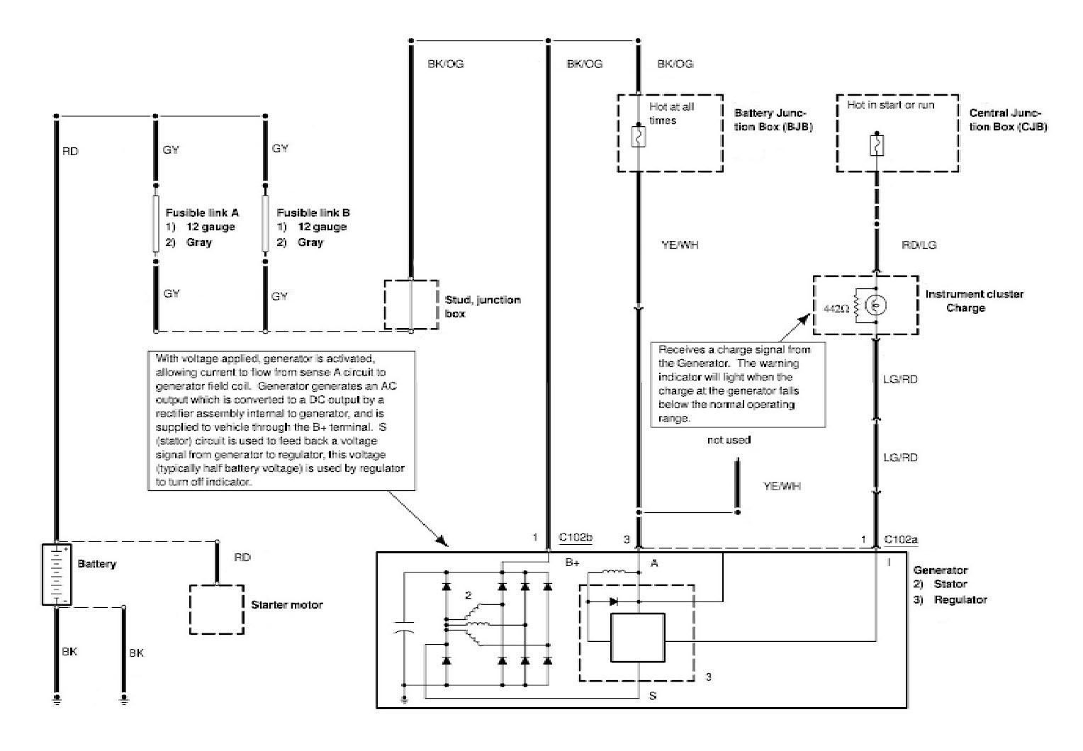 Alternator Charging System Wiring Diagrams