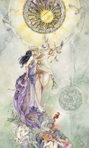 The Lovers from the Shadowscapes Tarot