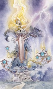 The Tower from the Shadowscapes Tarot Deck