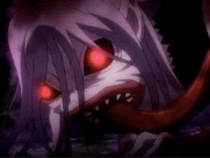 Wow. She is positively terrifying. Captured from FUNimation's stream.