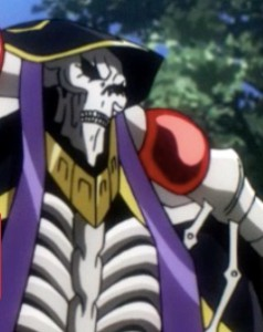 I thought Overlord's main character was striking. Picture from the Funimation site.