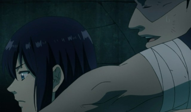 Marie's gentle honesty helped Kanda understand Alma Karma's loneliness. Capture from the Funimation stream.