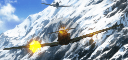 The aerial combat scenes were very well done. Capture from the Crunchyroll stream.