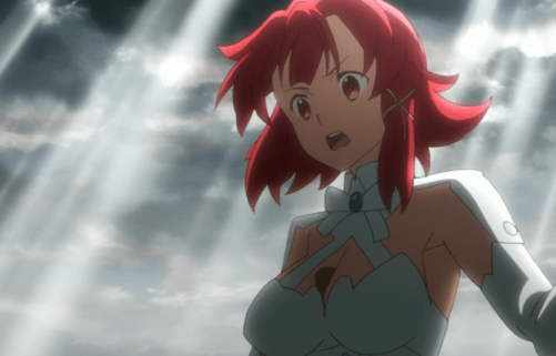 Even without the magic, Izetta was able to put on a convincing performance at the pass -- with the help of the Imperial Guard. Capture from the Crunchyroll stream.
