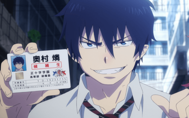 Blue Exorcist Kyoto Saga Episode 1: Rin's proud of his ID