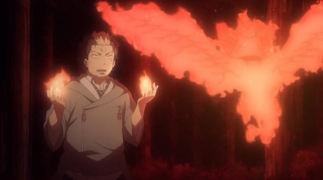 "Blue Exorcist Kyoto Saga Episode 8: Ryuji ""inherits"" Karura from his father"