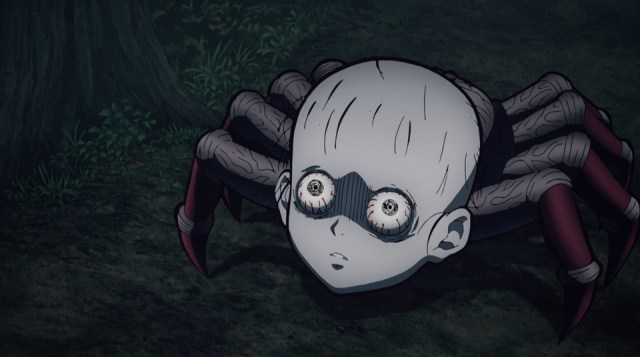 Demon Slayer: Kimetsu no Yaiba Episode 17: Head spiders are terrifying