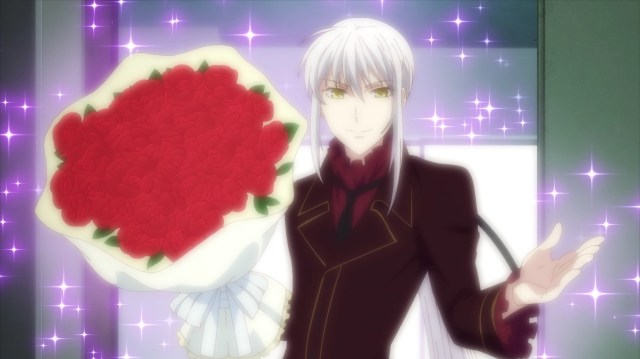 Fruits Basket S2E15: Ayame appearing very sparkly.