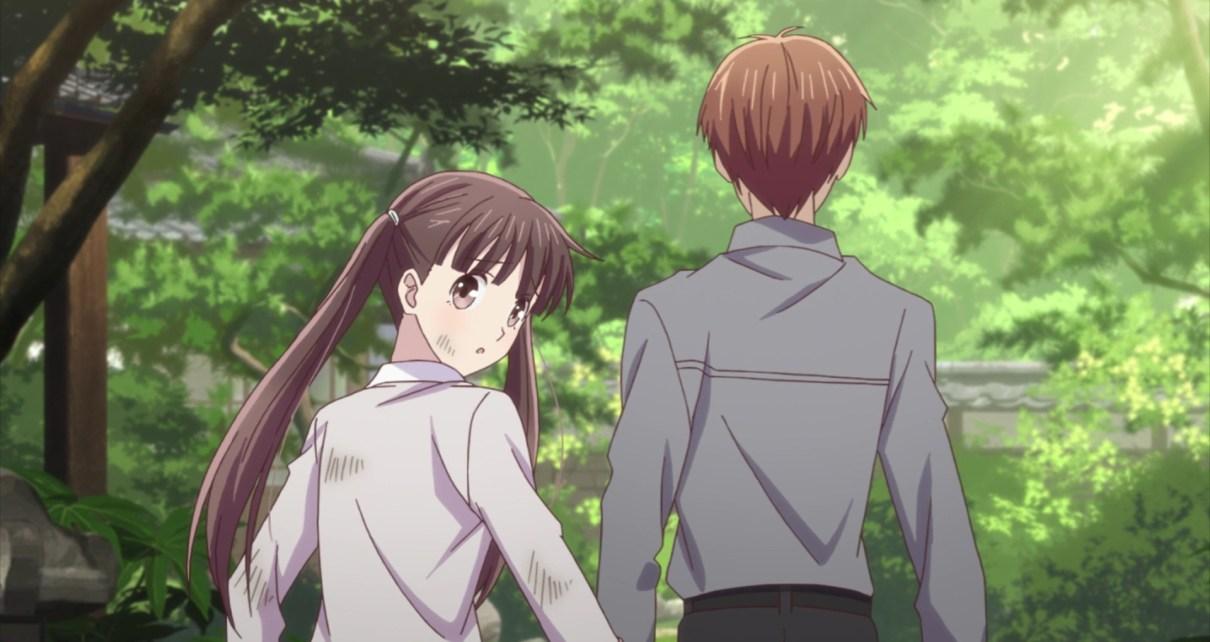 Fruits Basket Season 2 Episode 16: Tohru barely escaped detection.