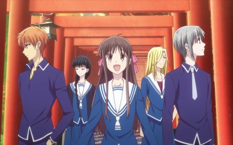 Fruits Basket Season 2 Episode 17: Tohru and her friends on a Kyoto class trip