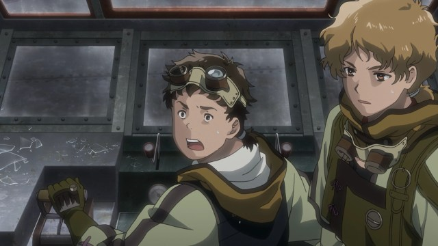 Kabaneri of the Iron Fortress Episode 5: Takumi and Sukari held their position.