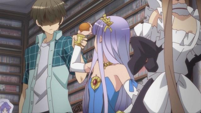 Outbreak Company Episode 2: Shinichi grabbed Petralka's write to protect Myucel.