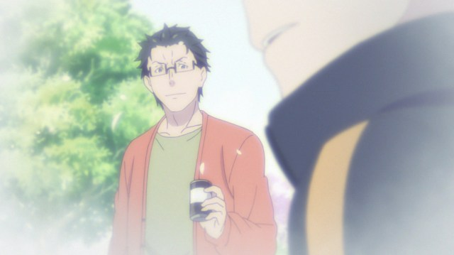 Re:ZERO season 2 Episode 29: Subaru's dad kept asking him if there was a girl he liked.