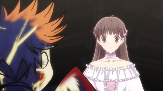 Fruits Basket Season 2 Episode 23: Tohru impressed Kyou.