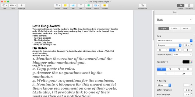 Real Editors to Use with Gutenberg: Apple Pages is okay to use with Gutenberg.
